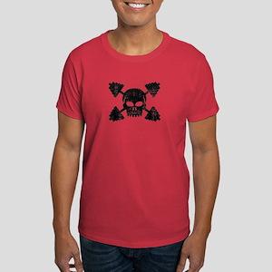 Weightlifting Skull Dark T-Shirt