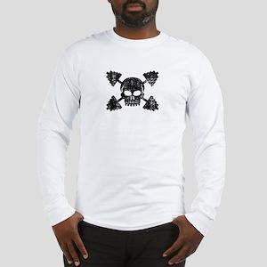 Weightlifting Skull Long Sleeve T-Shirt