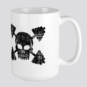 Weightlifting Skull Large Mug