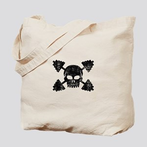 Weightlifting Skull Tote Bag