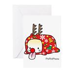 Xmas PeRoPuuu Greeting Cards (Pk of 10)