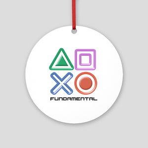 Fundamental Game Symbols Ornament (Round)