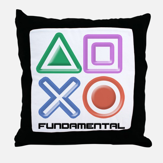 Fundamental Game Symbols Throw Pillow
