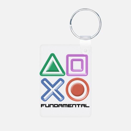 Fundamental Game Symbols Aluminum Photo Keychain