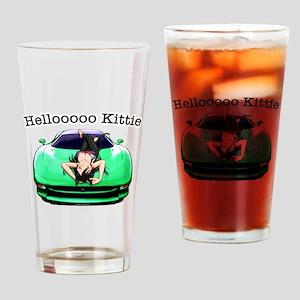 XJ220 Helloooo Kittie Drinking Glass