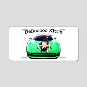 XJ220 Helloooo Kittie Aluminum License Plate