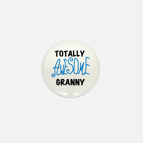 Blue Awesome Granny Mini Button