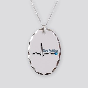 Nurse Practitioner Necklace Oval Charm