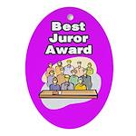 Best Juror Award Ornament (Oval)