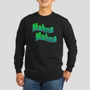 Mahna Mahna Long Sleeve Dark T-Shirt