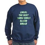 Linux: Sliced bread Sweatshirt (dark)