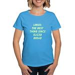 Linux: Sliced bread Women's Dark T-Shirt