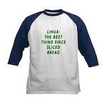 Linux: Sliced bread Kids Baseball Jersey