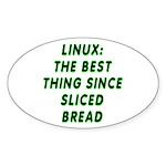 Linux: Sliced bread Sticker (Oval)
