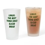 Linux: Sliced bread Drinking Glass