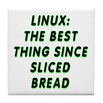 Linux: Sliced bread Tile Coaster