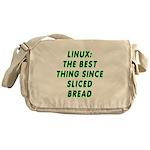 Linux: Sliced bread Messenger Bag