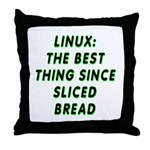 Linux: Sliced bread Throw Pillow