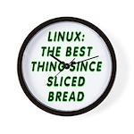 Linux: Sliced bread Wall Clock