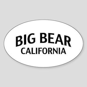 Big Bear California Sticker (Oval)