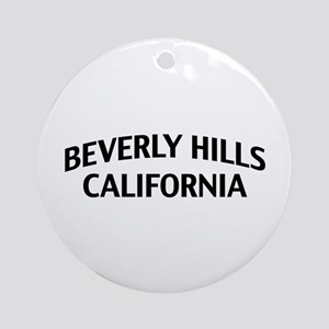 Beverly Hills California Ornament (Round)
