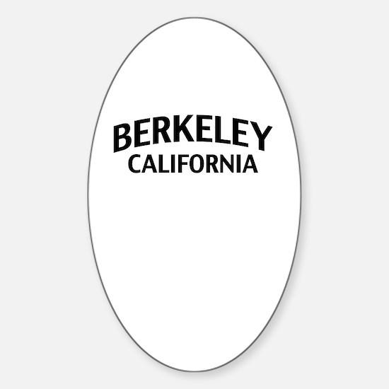 Berkeley California Sticker (Oval)