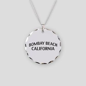 Bombay Beach California Necklace Circle Charm