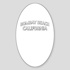 Bombay Beach California Sticker (Oval)