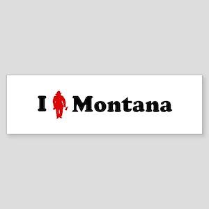 Montana Firefigher Bumper Sticker