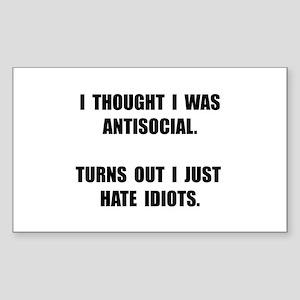 Antisocial Idiot Sticker