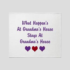 Grandma's House Throw Blanket