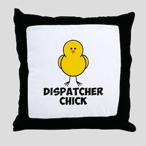 Dispatcher Chick Throw Pillow