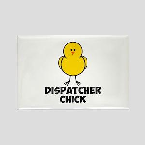 Dispatcher Chick Rectangle Magnet