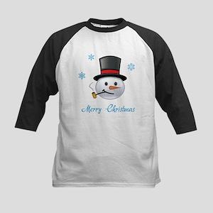 Merry Christmas snowman Kids Baseball Jersey