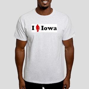 Iowa Firefigher Ash Grey T-Shirt