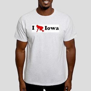 Iowa Football Ash Grey T-Shirt