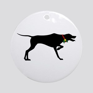 Christmas or Holiday Pointer Jingle Bell Silhouett