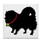 Christmas or Holiday Pomerani Tile Coaster