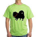 Christmas or Holiday Pomerani Green T-Shirt