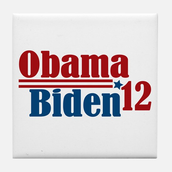 Obama Biden 2012 Tile Coaster