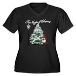 The Magic of Christmas Women's Plus Size V-Neck Da