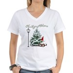 The Magic of Christmas Women's V-Neck T-Shirt