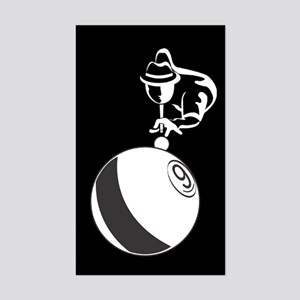 9-Ball Billiards Sticker (Rectangle)