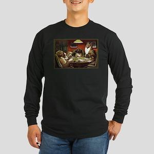 Waterloo Dog Poker Long Sleeve Dark T-Shirt