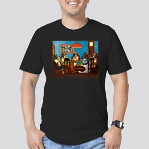 A friend in need Poker Men's Fitted T-Shirt (dark)