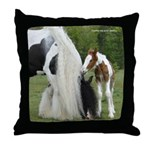 Gypsy Mare and Foal Throw Pillow