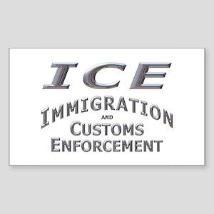 Immigration Customs Enforcement - Sticker (Rectan