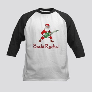 Santa Rocks! Kids Baseball Jersey