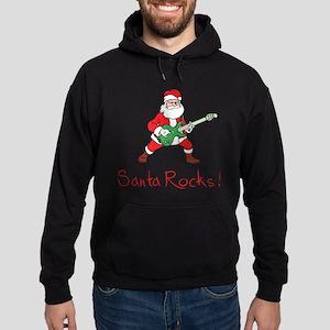 Santa Rocks! Hoodie (dark)