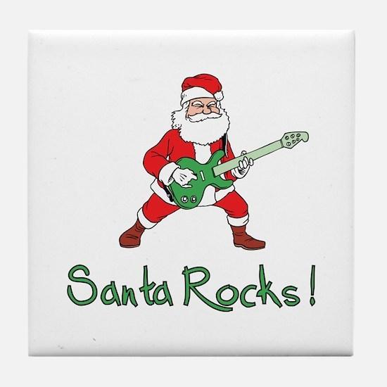 Santa Rocks! Tile Coaster